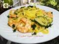 Tagliolini gamberi e zucchine ricetta veloce