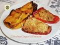 Peperoni al forno ripieni di tonno capperi e olive nere