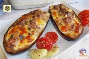 Melanzane a barchetta ripiene al forno ricetta