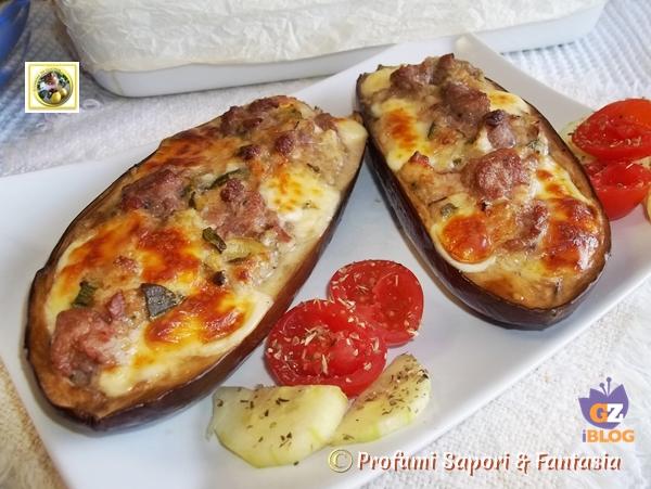 melanzane a barchetta ripiene al forno ricetta gustosa - Come Cucinare Le Melanzane Ripiene