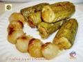Zucchine ripiene al forno con cipolline borettane