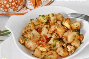 Gnocchi di patate al sugo veloce di pesce
