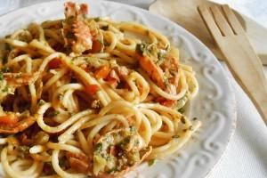 Spaghetti al sugo di scampi