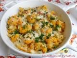 Cavolfiore al forno con prosciutto e formaggi