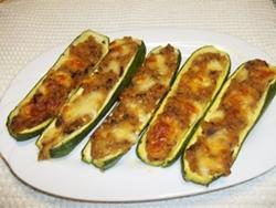 Zucchine ripiene al forno senza carne