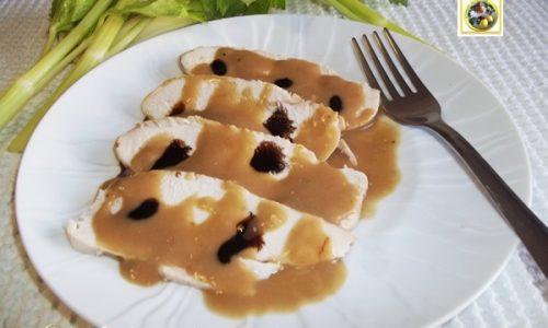 Petto di pollo in salsa di senape e balsamico