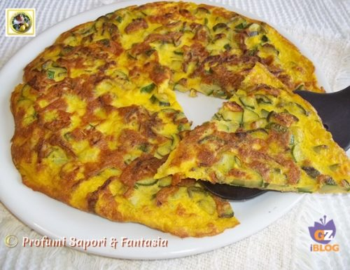 Frittata di zucchine patate e cipolla ricetta facile