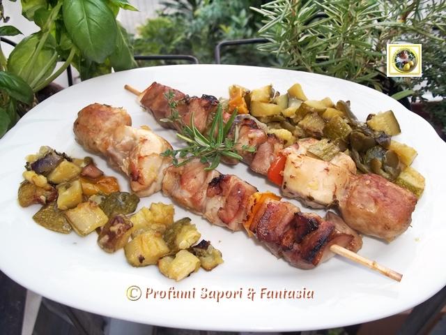 Spiedini di carne al forno con zucchine  Blog Profumi Sapori & Fantasia