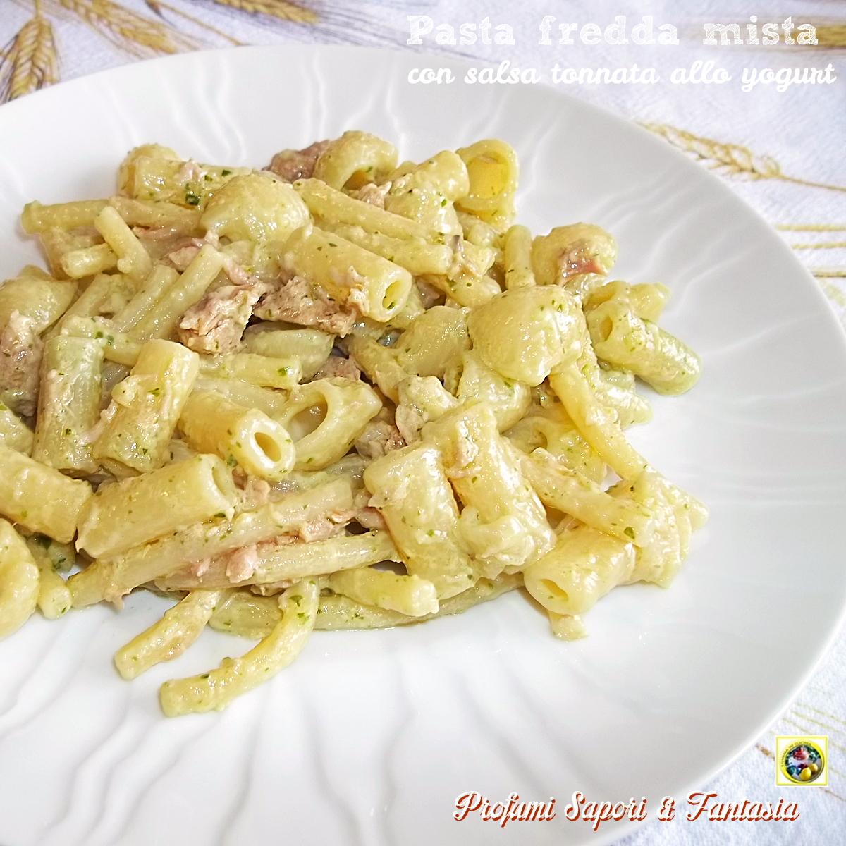 Favori Pasta fredda mista con salsa tonnata allo yogurt PZ83
