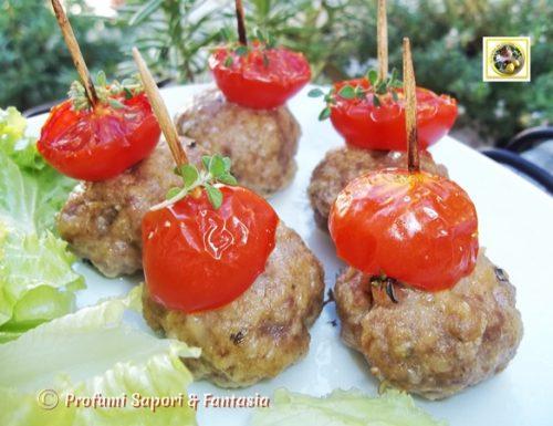 Polpette al forno con pomodorini, ricetta
