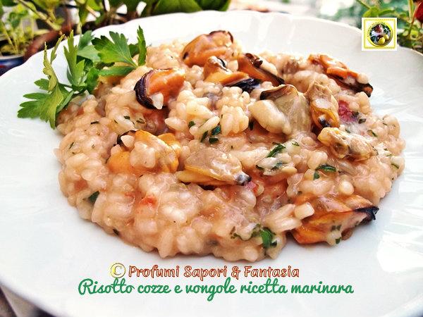 Risotto cozze e vongole ricetta marinara Blog Profumi Sapori & Fantasia