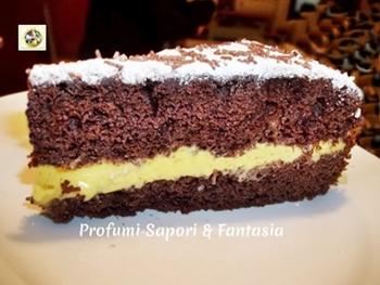 Torta moretta farcita alla crema di cioccolato bianco Blog Profumi Sapori & Fantasia