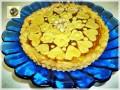 Crostata di pasta frolla alle nocciole e marmellata di pesca