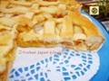 Crostata di mele e marmellata di pesche