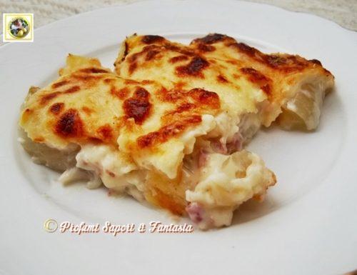Finocchi al forno con prosciutto e formaggio