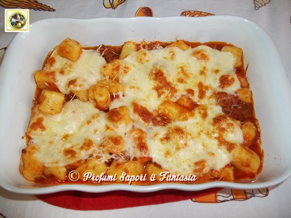 Gnocchi gratinati al forno con scamorza  Blog Profumi Sapori & Fantasia