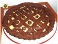 Crostata al cacao con crema e ricotta