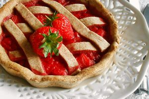 Crostata integrale con fragole