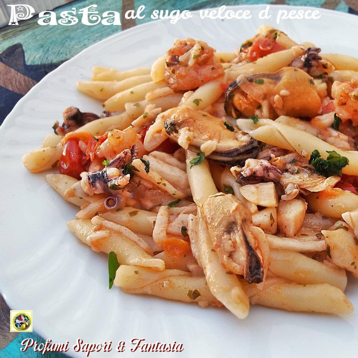 Pasta al sugo veloce di pesce Blog Profumi Sapori & Fantasia