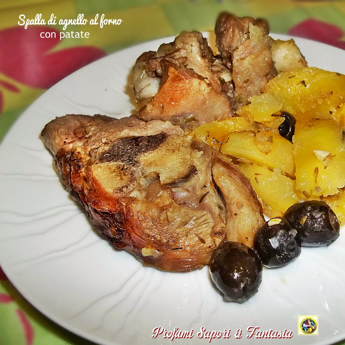 Spalla di agnello al forno con patate