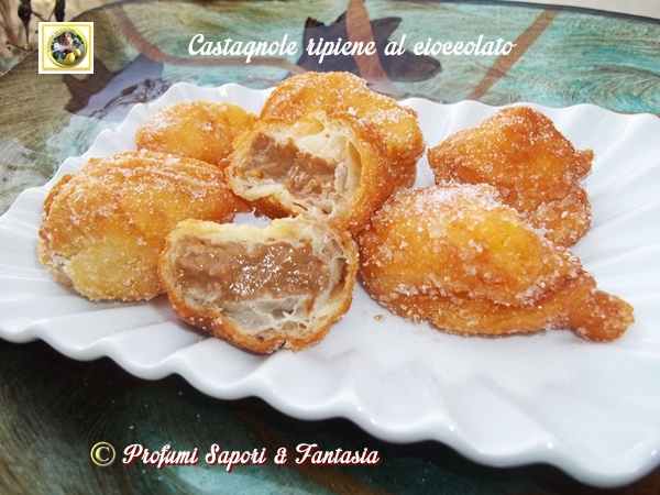 Castagnole ripiene al cioccolato  Blog Profumi Sapori & Fantasia