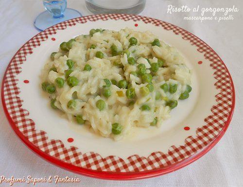 Risotto al gorgonzola mascarpone e piselli