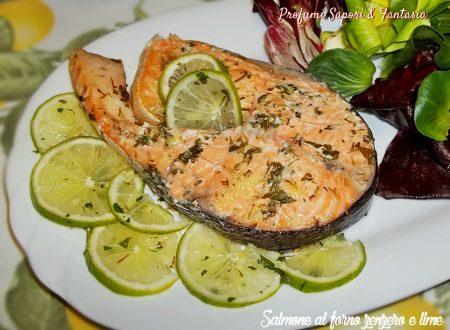 Salmone al forno zenzero e lime