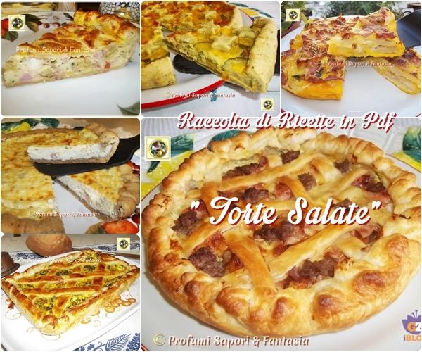 """Raccolta di ricette in Pdf  """"torte salate"""""""