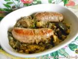 Salsiccia con melanzane e zucchine