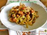 Paglia e fieno con pancetta e zucchine