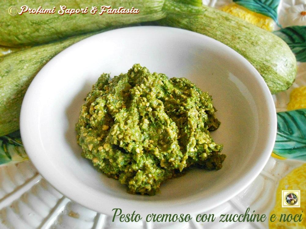 Pesto cremoso con zucchine e noci