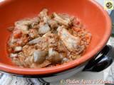 Costine di maiale in umido con carciofi