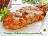 Parmigiana filante di melanzane senza mozzarella