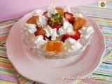 Coppa dessert fragole e panna