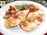 Scaloppine di pollo con zucchine, ricetta