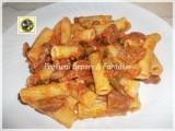 Tortiglioni alle zucchine fagiolini e salsiccia