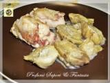 Involtini di pollo ripieni, speck formaggio e carciofi