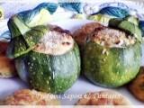 Zucchine tonde ripiene con salmone e squacquerone
