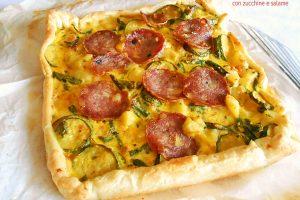 Rustico con zucchine e salame
