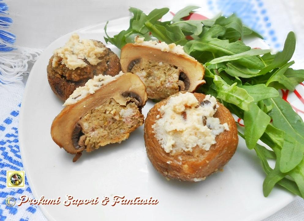 Cappelli di champignon ripieni tartufati Blog Profumi Sapori & Fantasia