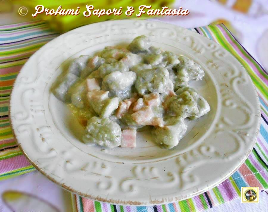 Gnocchi di patate al prosciutto e formaggi