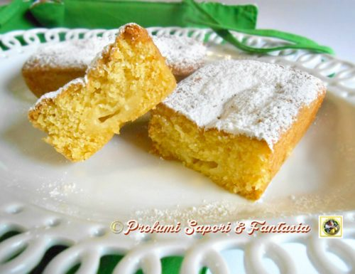 Mini plumcake alla panna e crema limoncello