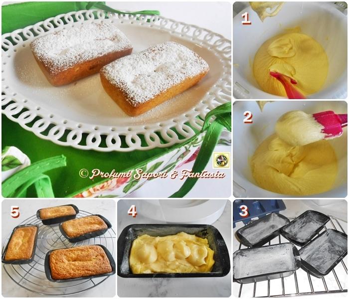 Mini plumcake alla panna   e crema limoncello Blog Profumi Sapori & Fantasia