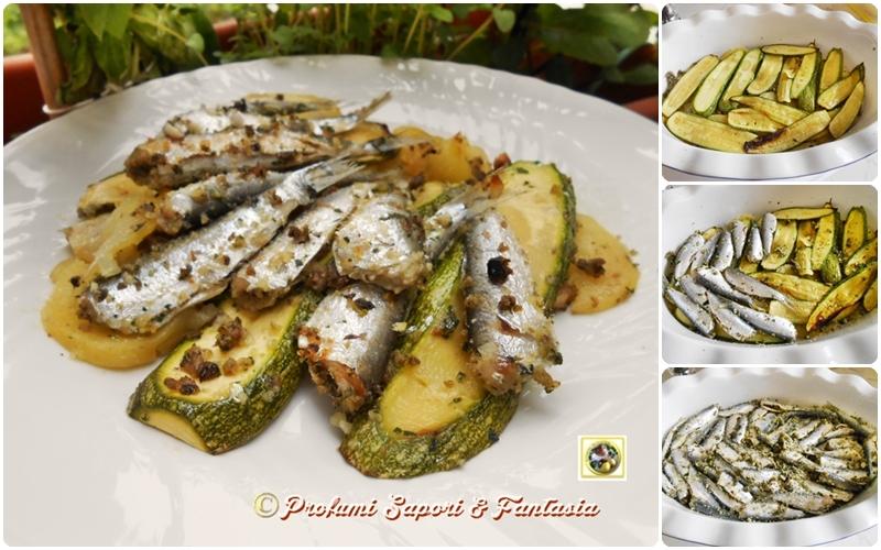 Sarde gratinate con patate e zucchine  Blog Profumi Sapori & Fantasia