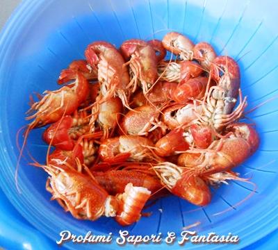 Spaghetti al sugo di gamberi di acqua dolce Blog Profumi Sapori & Fantasia