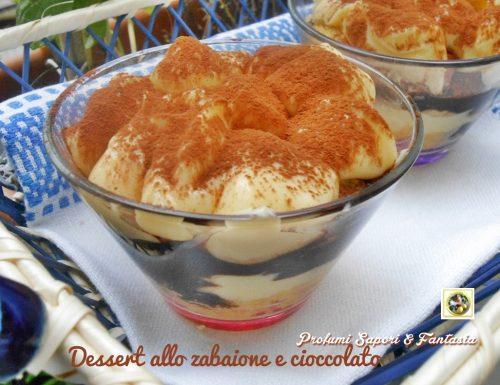 Dessert allo zabaione e cioccolato