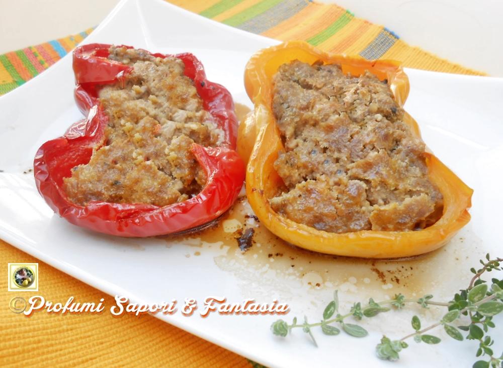 Peperoni ripieni al forno con carne  Blog Profumi Sapori & Fantasia