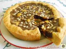 Crostata alla crema di cioccolato e mandorle
