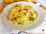 Risotto alle zucchine prosciutto e zafferano Blog Profumi Sapori & Fantasia