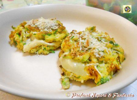 Frittelle zucchine e patate con formaggio